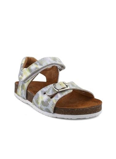 Cici Bebe Ayakkabı Leopar Kız Çocuk Sandalet Yeşil